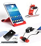 Riona Tablet & Mobile holder A5L Red + Hanger Stand + Cable Organizer + Scratch Gu... A5LR-C best price on Amazon @ Rs. 696