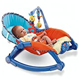 Newborn to Toddler Portable Musical Rocker with Vibration (Blue)
