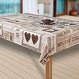 laro Wachstuch-Tischdecke Wachstischdecke Tischwäsche Abwaschbar Meterware Wachstuchdecke |05|, Größe:130x160 cm