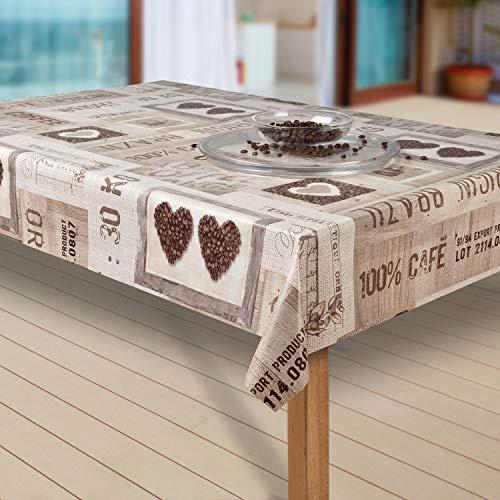 laro Tischdecke Wachstuch Tischläufer Wachstischdecke PVC abwaschbare Tischdecke Wasserabweisend Schutz |05|, Größe:80x100 cm