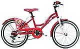 giordanoshop Bicicletta per Ragazza 20' 6V Minnie Rossa