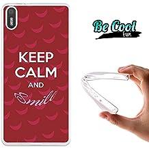 Becool® Fun - Funda Gel Flexible para Bq Aquaris X5 .Carcasa TPU fabricada con la mejor Silicona , protege y se adapta a la perfección a tu Smartphone y con nuestro diseño Keep calm y sonríe