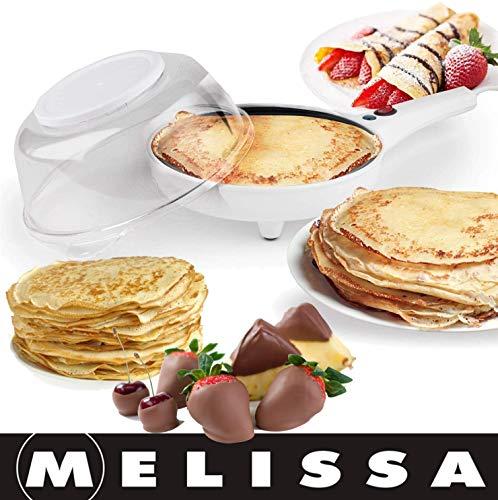 Melissa 16310185 Popcorn- und Crêpes Maschine 2 In 1, Popcornmaschine für zuhause, Crêpes Maker 800 Watt