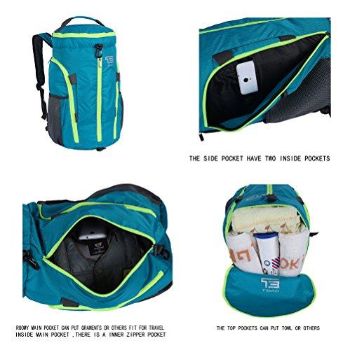TB 35L/40L faltbar leicht Duffle Daypack Wasserdichte Reise Sport Rucksäcke Gym Bag FRUIT GREEN