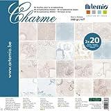 Artemio 11001805 Collection Charme Set DE 40 Feuilles pour Scrapbooking Papier Multicolore 30,5 x 0,7 x 30,5 cm