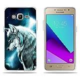 Fubaoda Coque Samsung Galaxy J1 Mini Prime, [Loup pensif] Ultra Slim TPU Silicone...