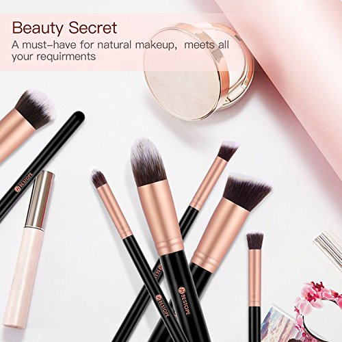 BESTOPE Pinselset Makeup Pinsel Set Pinselset Kosmetik Professionelles Schminkpinsel Kosmetikpinsel Gesichtspinsel Make Up Pinsel Set Brush Set (Rosa Gold)