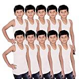#1: Kids Basket Gypsy 100% Pure Cotton White Vest for Kids Boys Baby Inner wear Brief Combo Pack of 5 and 10 Pc
