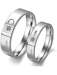 Moneekar Jewels Silver Metal Rings for Men and Women (Pack of 2)