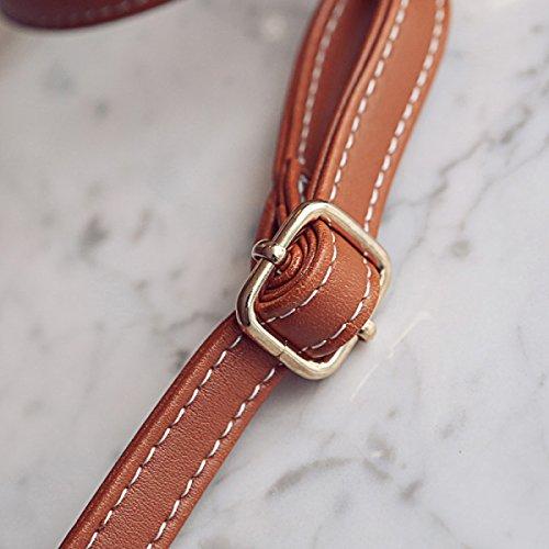 QPALZM 2017 Weben Frauen Beiläufige Handtasche Einfache Schulter-Beutel-Einkaufstasche Brown