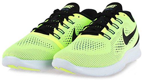 Nike Free Rn, Chaussures de Running Homme Vert (Ghost Grn/black-bl Mn-pr Pltnm)