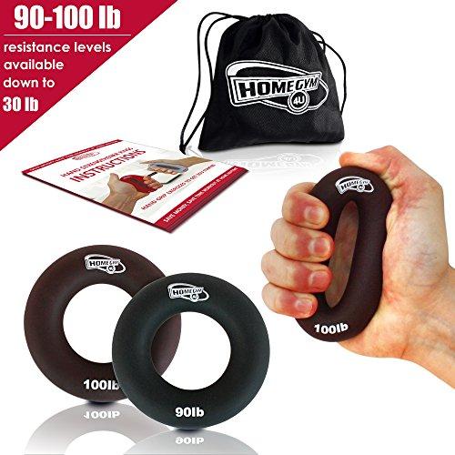 3 in 1 Hand Verstärker Grip Ringe – sehr bequem zu verwenden – Schnell erhöhen Hand Finger Handgelenk Vorderarmmuskulatur für Athleten Klettern Musiker Stress Relief & Verletzungen Rehabilitation (90-100 LB)