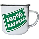 New 100% Natural Stamp Retro, lata, taza del esmalte 10oz/280ml m271e