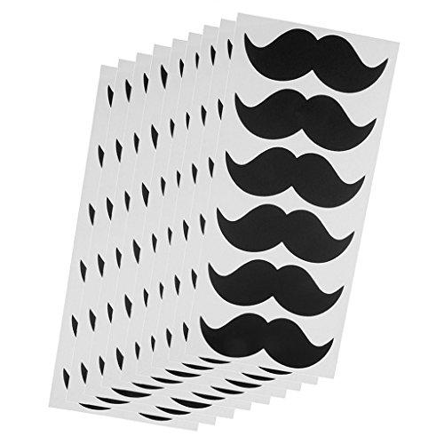 (MagiDeal Wiederverwendbar Schnurrbart Tafel Aufkleber Kreidetafel Etiketten, 9 Blätter / Set)