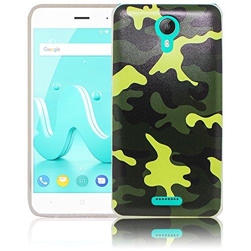 Wiko Jerry 2 Camouflage Silikon Schutz-Hülle weiche Tasche Cover Case Bumper Etui Flip smartphone handy backcover Schutzhülle Handyhülle thematys®