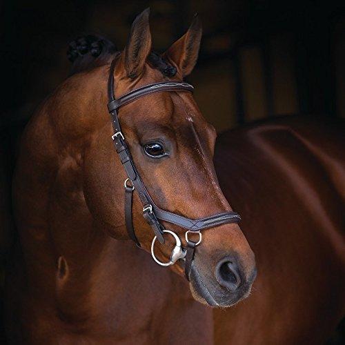 Horseware Rambo Micklem Deluxe Competition Bridle Trense Farbe und Größe wählbar (braun, Pony)