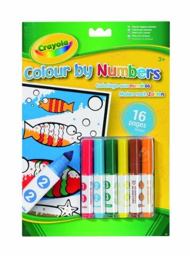Imagen principal de Crayola - Colorea por números, cuaderno de colorear y 6 rotuladores (7321)
