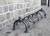 Fahrradständer Antik-Look für stabil 5 Fahrräder verzinkt lackiert kommunal