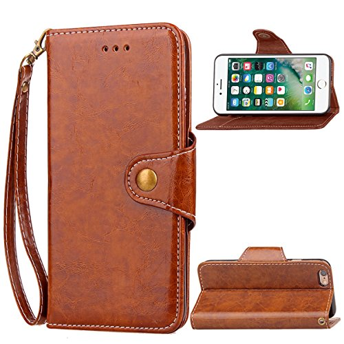 iPhone 6 Plus - Protective Backcover Skins Leather Case/Cover/Bumper/Skin/Cushion - Fashion Art Collection (Brown)