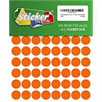 192 Dots, 20 MM, orange, made from PVC film, Weather-Resistant, Adhesive circular stickers Stickers Dots / Circles