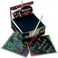 Melissa & Doug Rainbow Mini Scratch Art Note Cubes | Arts & Crafts | Scratch Art | 4+ | Gift for Boy or Girl