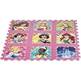 ColorBaby - Alfombra puzzle goma Eva de Princesas Disney, 9 piezas, 93 x 93 cm (48055)