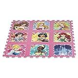 ColorBaby - Alfombra puzzle goma Eva de Princesas Disney, 9 piezas, 93...