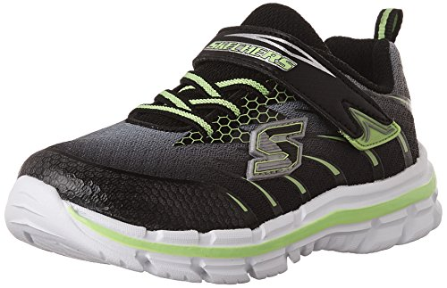 Skechers Boys Nitrate-Pulsar Low-Top Sneakers, Black (Bklm), 12 Child UK 30 EU