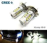 2x H7 499 PX26d Cree LED 80W Projektor Birne...