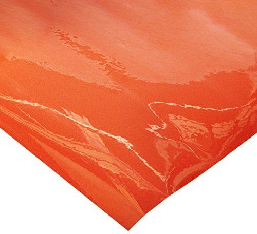 Silhouette beflockte Wärmeübertragung tangerine