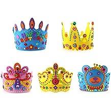 NUOLUX 5pcs cumpleaños corona gorras cumpleaños sombreros fiesta de la torta sombreros de la corona del