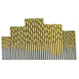 Fangfeen 50pcs HSS Co Acero Titanio caña Recta torsión hacia la Broca de perforación 1.0-3.0mm