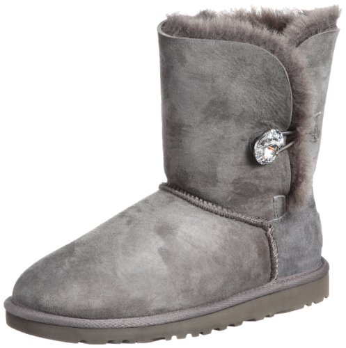 UGG Australia Damen Bailey Button Bling Stiefeletten, Grau, 39 EU (Button-stiefeletten)