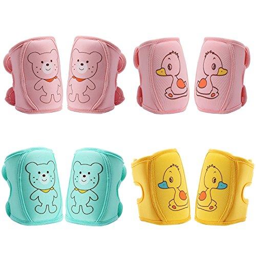 Preisvergleich Produktbild biubee 4Paar Baby Knieschoner–verstellbar kriechen Sicherheit Displayschutzfolie für Baby und Kleinkinder