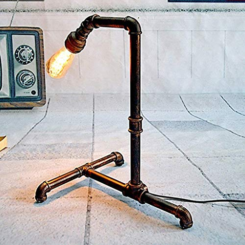 stts Household Bedside Table Lamp, Decoration Desk Lamp, Studentye Protection Table Lamp, Table Lamp American Home Network Coffee Bar Club Water Pipe Decorative Lamps