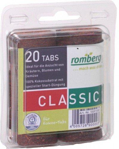Romberg 10091000 Kokos-Quelltabletten Durchmesser 36 mm (20 Stück), Braun, 0,4 x 0,3 x 0,33 cm