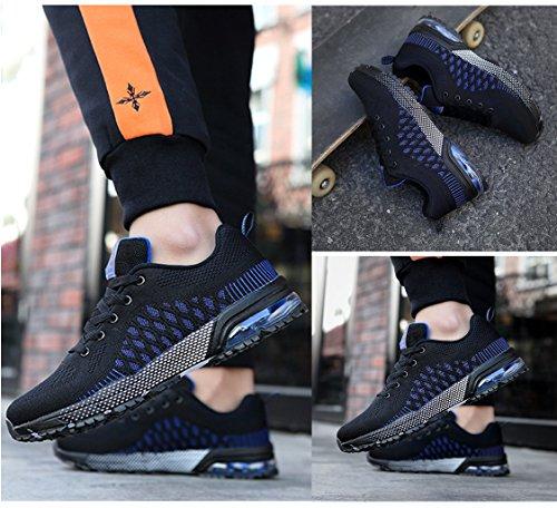 xiduoduo Damen Herren Sportschuhe Ultra Leichte Laufschuhe Rutschfeste Sneakers Mädchen Junge Schuhe mit Dämpfung Sommerschuhe 41 42 Schwarzblau