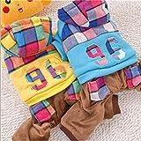 BKPH Herbst und Winter Hunde Daunenjacke Kleidung für Haustiere Vierbeinige Kleidung Baumwolle, Yellow, L