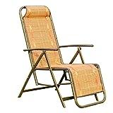 QFFL Recliners Indoor Faltbarer Lounge Sessel Home Multifunktions Siesta Freizeit Bambus Stuhl Outdoor Hocker