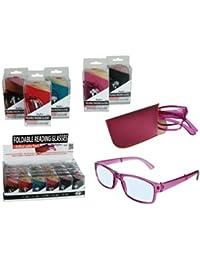 Immerschön Klapp-Lesebrille im Wayfarer-Design in vielen Farben mit Etui - für Business & Freizeit Lesehilfe Sehhilfe Brille