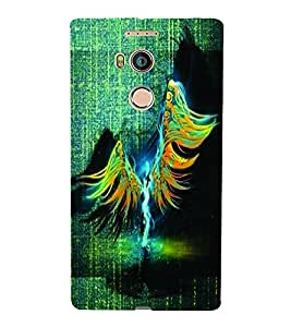 PrintVisa Modern Art Angel 3D Hard Polycarbonate Designer Back Case Cover for Gionee E8