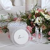 MAVANTO Seifenblasen Hochzeit 64 Stück gefüllt im praktischen Eimer - Wedding Bubbles Set - die perfekte Deko für unvergessliche Momente - 6
