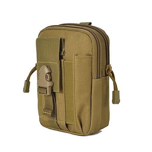 vinallo MOLLE TACTICAL Taschen Universal vielseitig Tactical Cover Smartphone ACU Camo Holster Tasche Gürtel Schulter Tasche Gadget Geld Pocket, braun