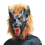 Funpack - MAHAL295  - Masque souple complet loup garou avec yeux rouges adulte pvc