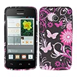 kwmobile Huawei Ascend Y330 Hülle - Handyhülle für Huawei Ascend Y330 - Handy Case in Pink Rosa Schwarz