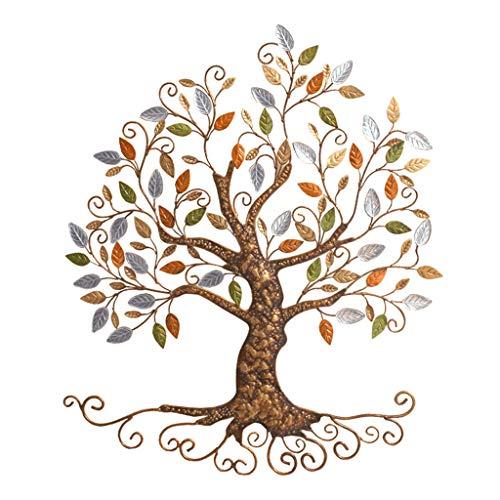 ZHAOSHUNLI Wand Dekoration Anhänger Kreative Schmiedeeisen Baum Home Wohnzimmer Hintergrund Wand Stereo Old 78 * 68 cm