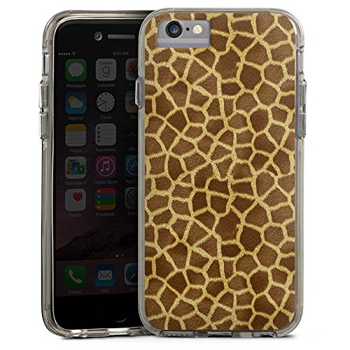 Apple iPhone 7 Plus Bumper Hülle Bumper Case Glitzer Hülle Giraffe Look Fell Tiere Bumper Case transparent grau