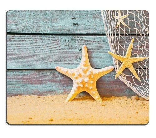 (Maus - Pads) Naturkautschuk - Gaming Mouse Pad meerblick Hintergrund und seesterne und Fischerei für Das Dorf überstanden die Blau - 27128768 Holz Mehr Gold Verkauft YANTG Sand. (Sand-dorf)