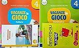 VACANZE IN GIOCO Italiano 4 + Narrativa + VACANZE IN GIOCO Matematica 4 + il Nuovo DEVOTO-OLI JUNIOR