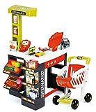 Smoby 350210 Supermarkt mit Einkaufswagen, Verschiedene Spielwaren